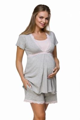 Camasa de noapte maternitate Model 155889 Lupo Line gri