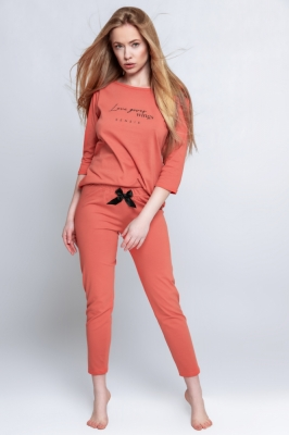 Pijama model 156957 Sensis rosu