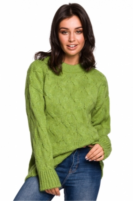 Pulover tricotat Model 136423 BE Knit verde