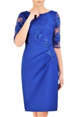 Rochie nasa nunta midi Model 156645 Jersa albastru