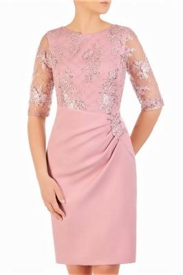Rochie de seara model 156646 Jersa roz