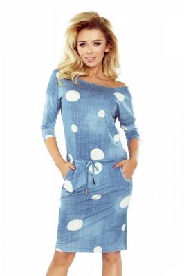Rochie de zi model 111712 Numoco albastru