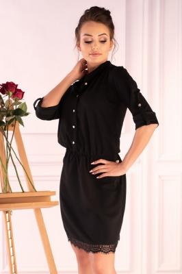 Rochie eleganta scurta Model 148841 Merribel negru