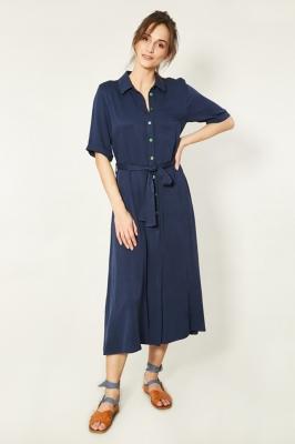 Rochie de zi model 150252 Click Fashion Bleumarin
