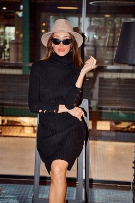 Rochie pulover Model 150415 Lemoniade negru