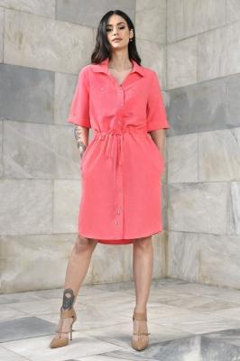 Rochie camasa Model 152522 Vitesi roz