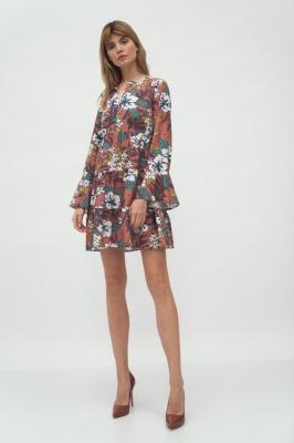 Rochie de zi model 153700 Nife multicolor