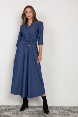 Rochie de zi model 159005 Lanti albastru