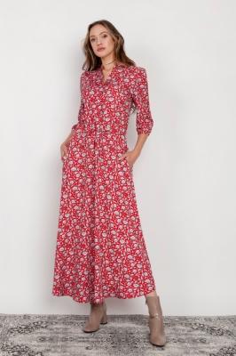 Rochie de zi model 159053 Lanti rosu