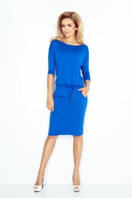 Rochie de zi midi Model 39902 Numoco albastru