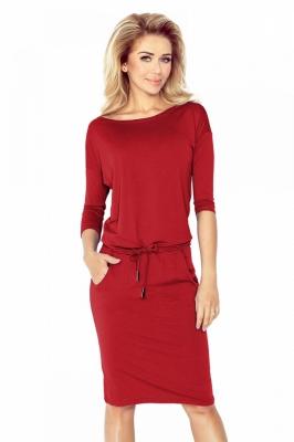 Rochie de zi model 90482 Numoco rosu