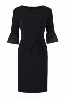 Rochie eleganta model 108536 Jersa negru