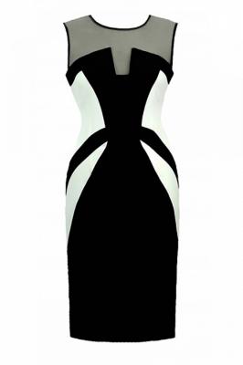 Rochie eleganta model 108538 Jersa negru