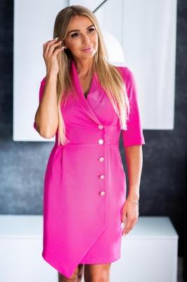 Rochie eleganta model 136699 Jersa roz