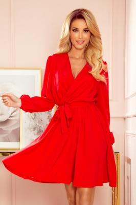 Rochie eleganta model 151064 Numoco rosu