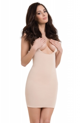 Rochie slim model 119549 Julimex Shapewear bej