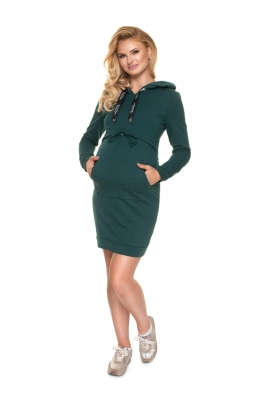 Rochii maternitate model 157836 PeeKaBoo verde
