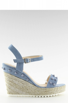 Sandale cu toc model 116689 Inello albastru