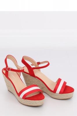 Sandale cu toc model 130025 Inello rosu