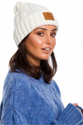 Caciula tricotata iarna Model 136403 BE Knit bej