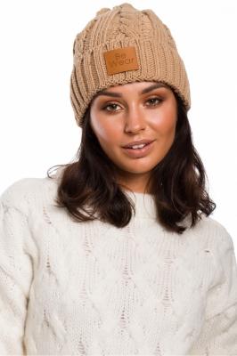Caciula tricotata iarna Model 136404 BE Knit bej