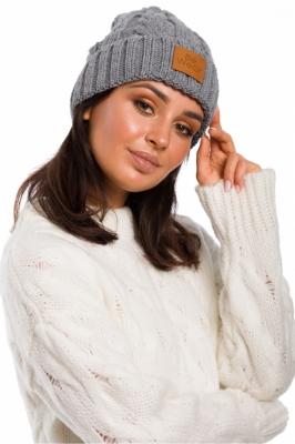 Caciula tricotata iarna Model 136405 BE Knit gri