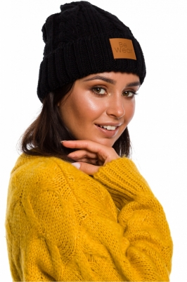 Caciula tricotata iarna Model 136406 BE Knit negru