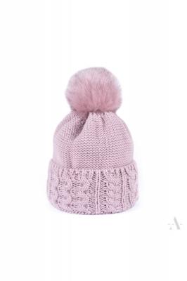 Caciula cu mot tricotata Model 136521 Art of polo roz