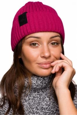 Caciula tricotata iarna Model 148904 BE Knit roz