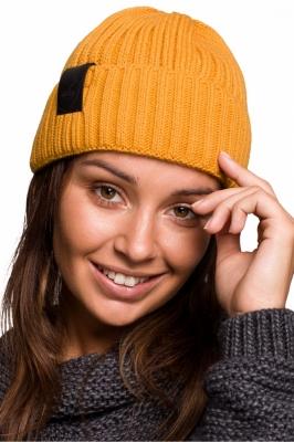 Caciula tricotata iarna Model 148906 BE Knit galben