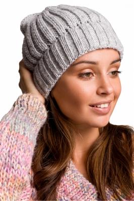 Caciula groasa tricotata Model 148911 BE Knit gri