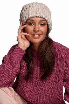 Caciula groasa tricotata Model 148912 BE Knit bej