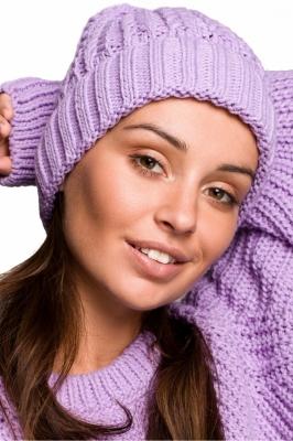 Caciula tricotata iarna Model 148914 BE Knit violet