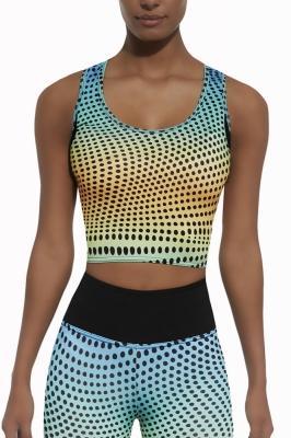 Bustiera fitness cu imprimeu Model 125948 Bas Bleu multicolor