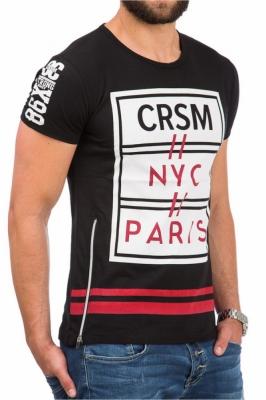 Tricou model 61324 YourNewStyle negru