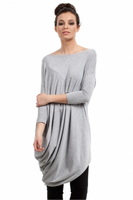 Bluza lunga Model 94660 BE gri