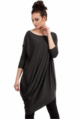 Bluza lunga Model 94661 BE gri