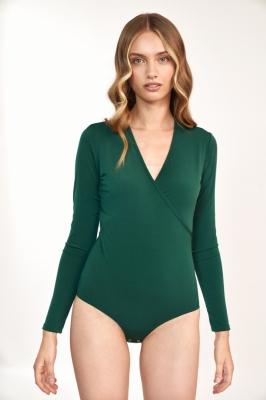 Zielona bluzka body B137 Green - Nife verde