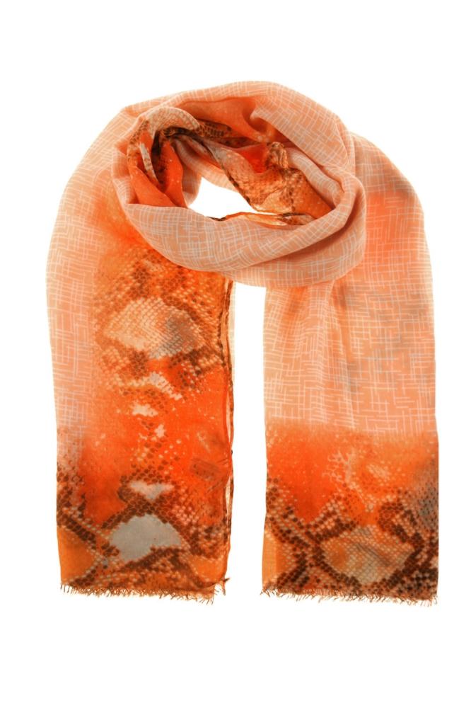 Esarfa colorata Model 141387 Moraj portocaliu