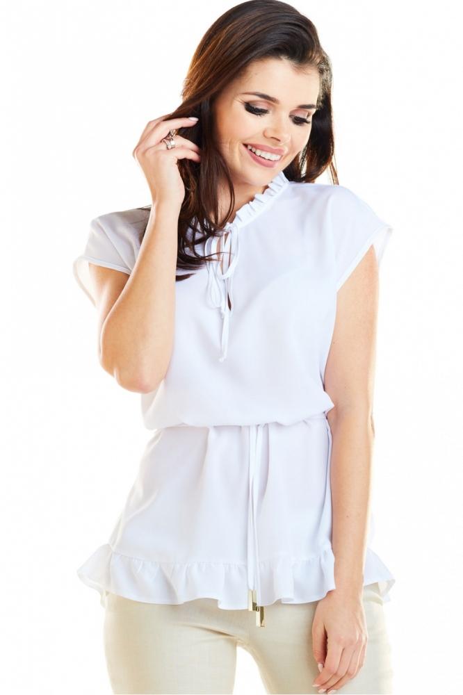 Bluza model 129957 awama alb