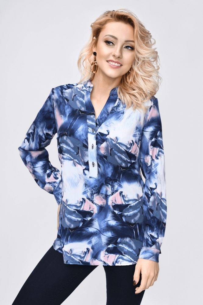 Bluza cu imprimeu floral Model 140421 Vitesi albastru