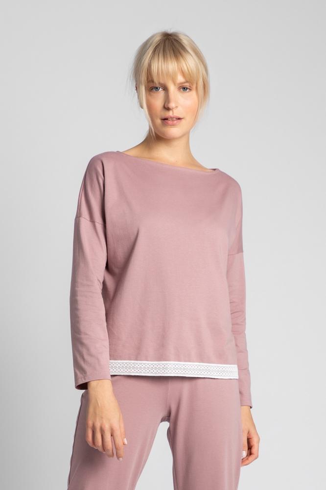 Bluza larga maneca lunga Model 150485 LaLupa roz