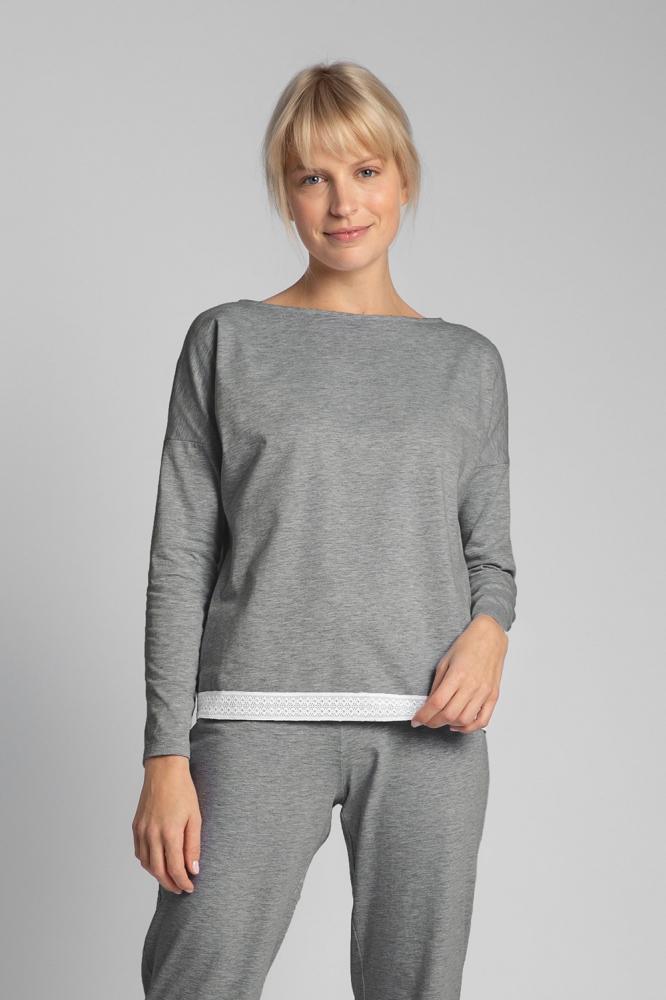 Bluza larga maneca lunga Model 150486 LaLupa gri