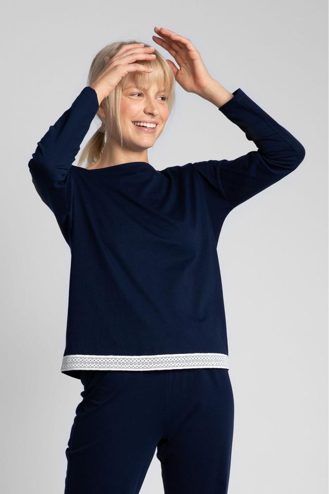 Bluza larga maneca lunga Model 150487 LaLupa Bleumarin