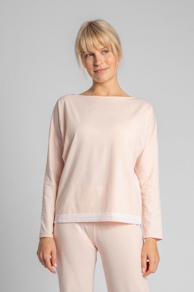 Bluza larga maneca lunga Model 150488 LaLupa roz