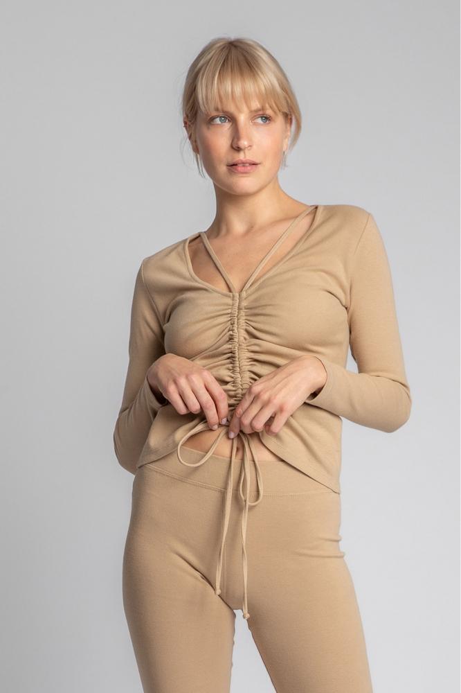 Bluza mulata Model 150496 LaLupa bej
