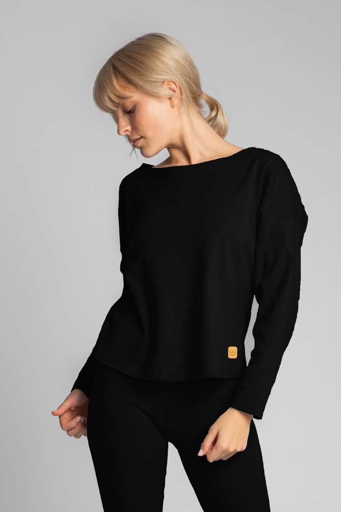 Bluza sport maneca lunga Model 150500 LaLupa negru