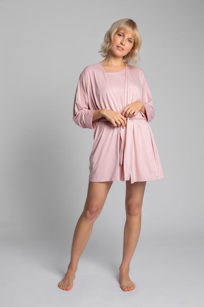 Camasa de noapte model 150526 LaLupa roz