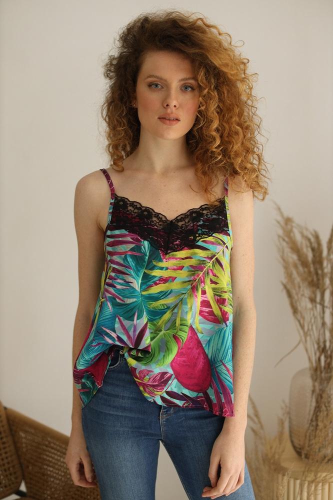 Top elegant cu imprimeu floral Model 154164 Eteria Last Past Now multicolor