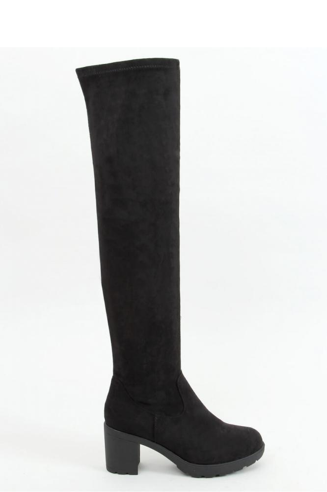 Cizme peste genunchi cu toc Model 157958 Inello negru